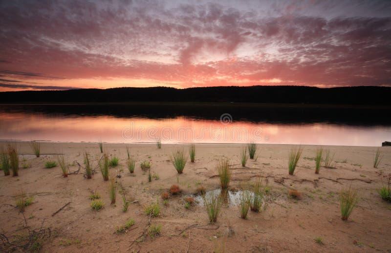 Cieli di tramonto sopra Penrith immagini stock libere da diritti