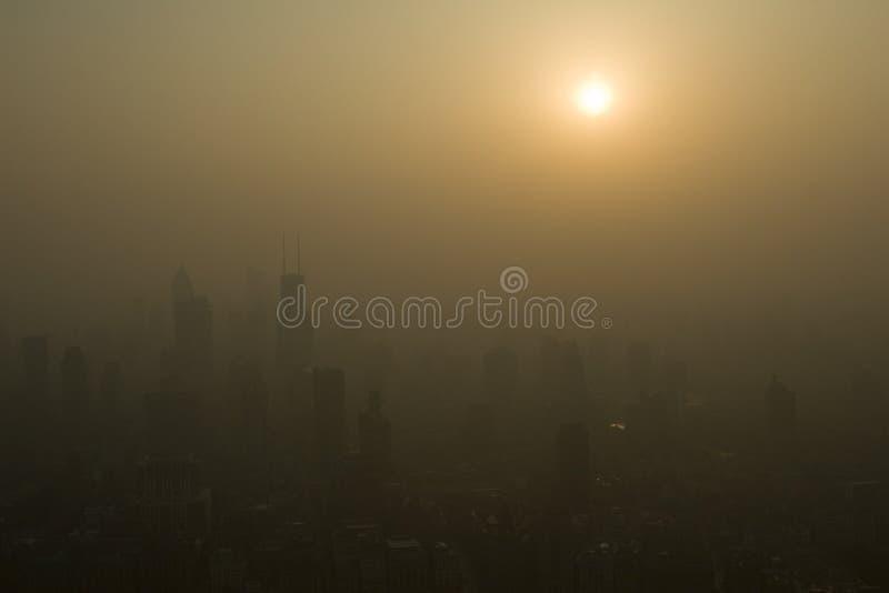 Cieli inquinanti fotografia stock libera da diritti