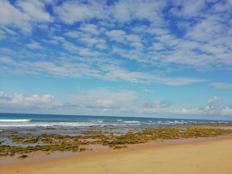 Cieli sopra l'oceano fotografia stock