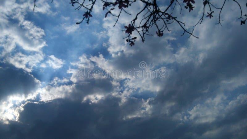 Cielo天空云彩Nube Sol太阳 库存照片