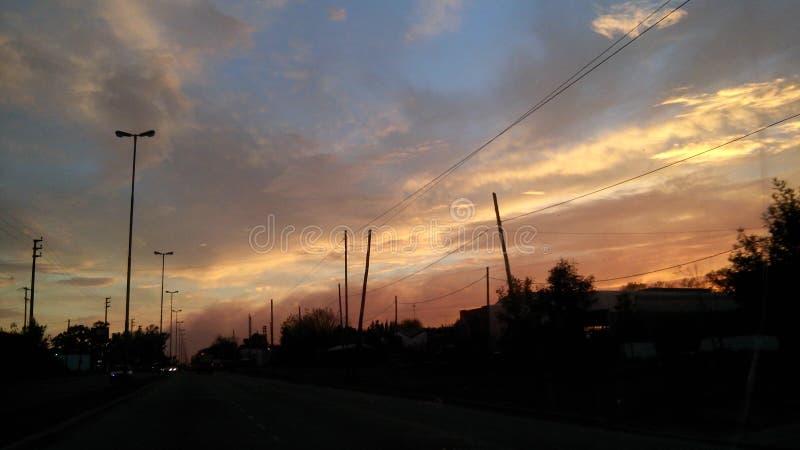 Cielo天空云彩Nube Sol太阳 免版税库存照片