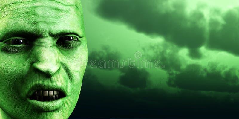 Cielo 4 delle zombie illustrazione vettoriale
