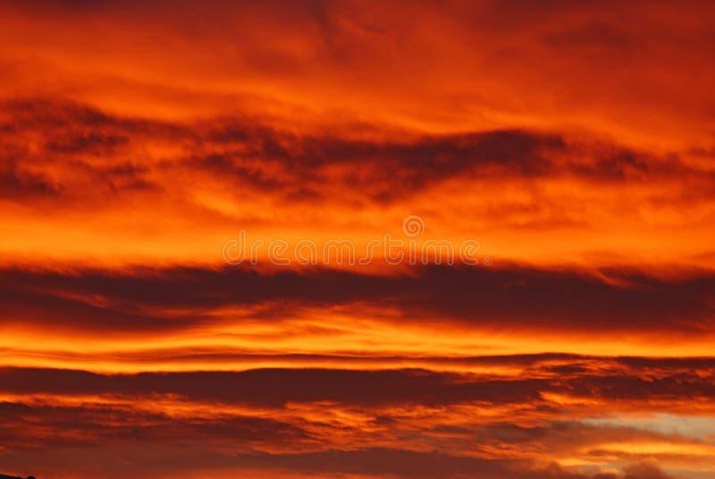 Cielo Ablaze! immagini stock libere da diritti