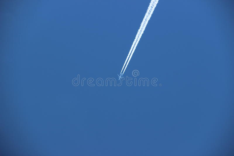 Cielo, aeroplano fotografía de archivo libre de regalías