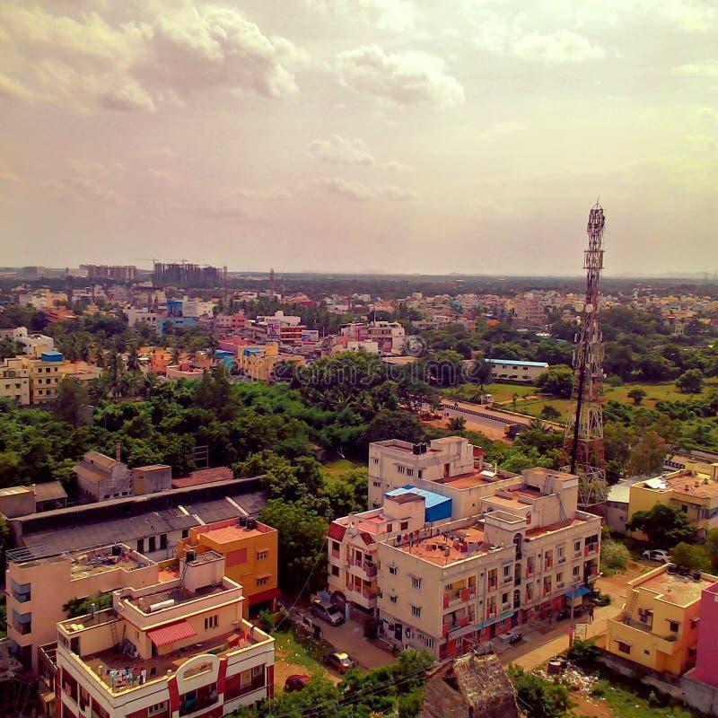 Cielo all'aperto della torre di giorno soleggiato della natura di Chennai fotografie stock libere da diritti