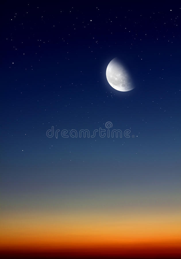 Cielo alla notte immagini stock