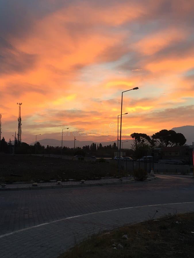 Cielo anaranjado foto de archivo