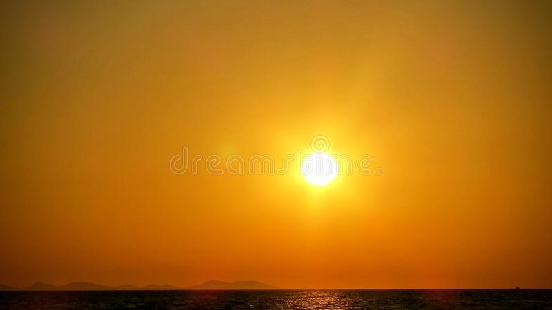 Cielo arancione immagini stock libere da diritti