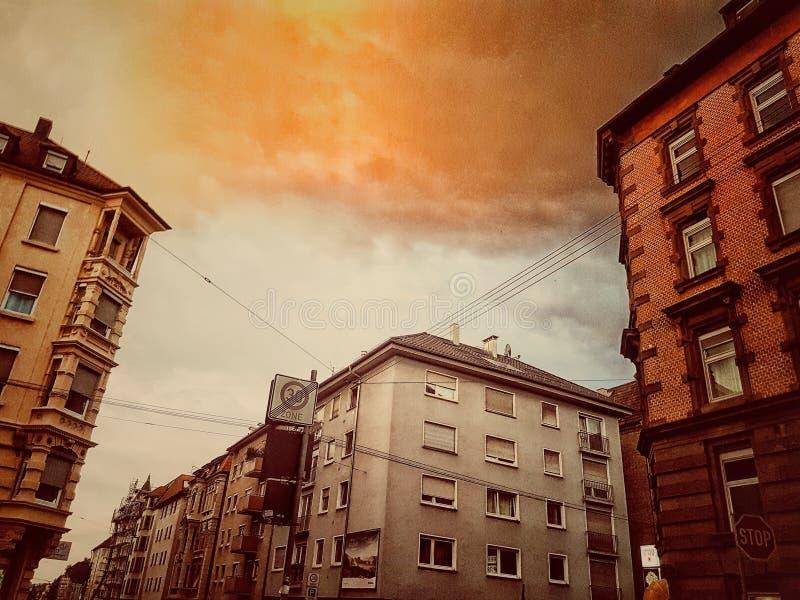 Cielo arancione fotografia stock