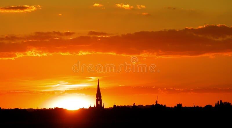 Cielo Ardiente Imagen de archivo libre de regalías