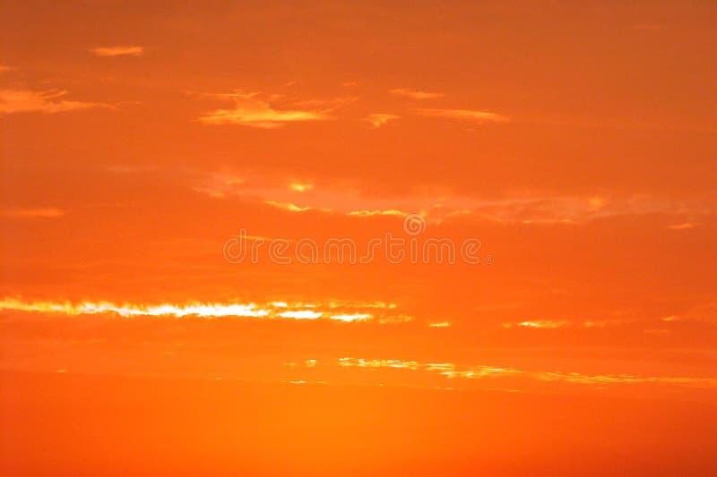 Cielo ardiente foto de archivo libre de regalías