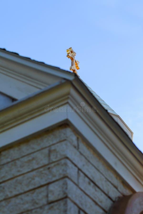 Cielo armenio apostólico de la cruz de la iglesia imágenes de archivo libres de regalías