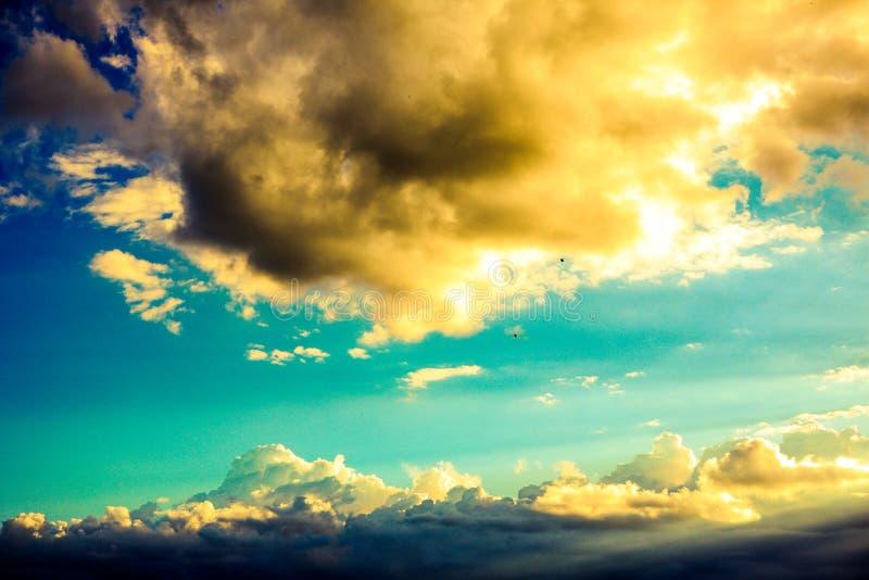 Cielo asombroso en Ecuador fotos de archivo