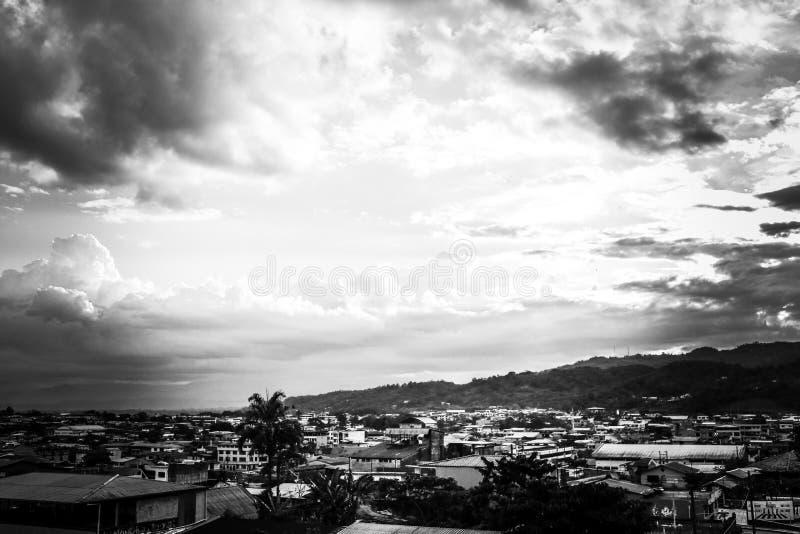 Cielo asombroso en Ecuador fotografía de archivo