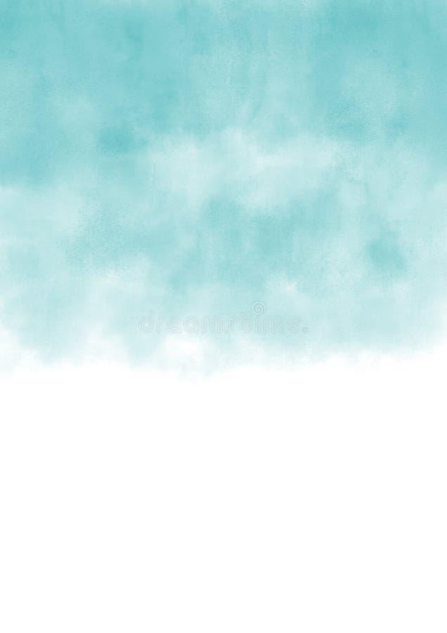 Cielo astratto con le nuvole bianche illustrazione vettoriale