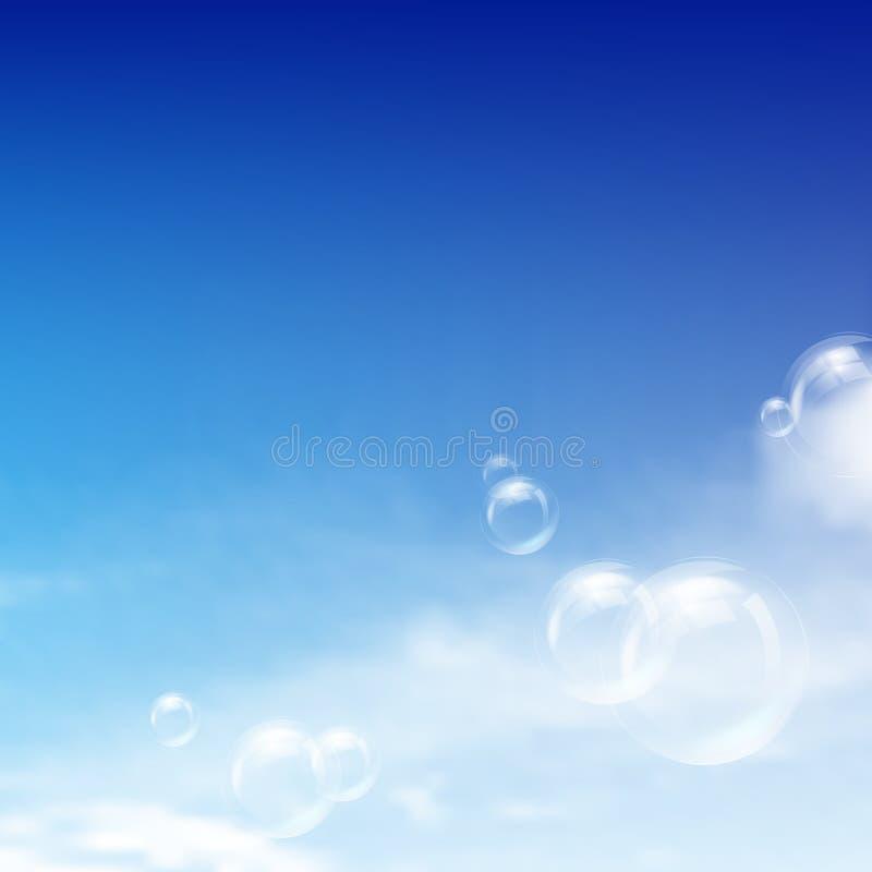 Cielo azul stock de ilustración