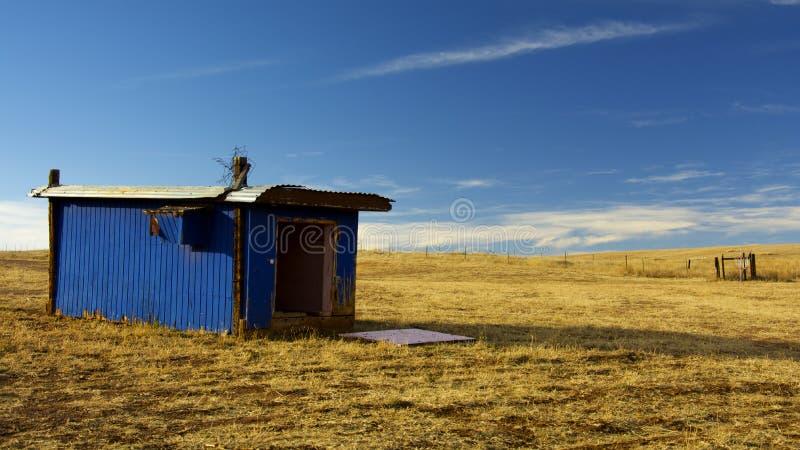 Cielo azul Almacenamiento azul fotografía de archivo