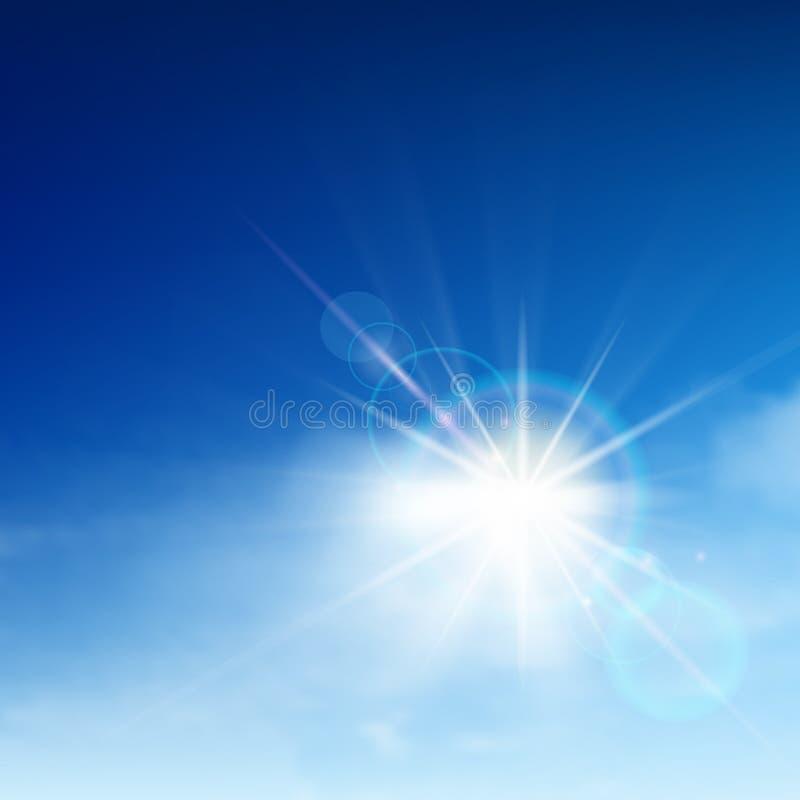 Cielo azul brillante libre illustration