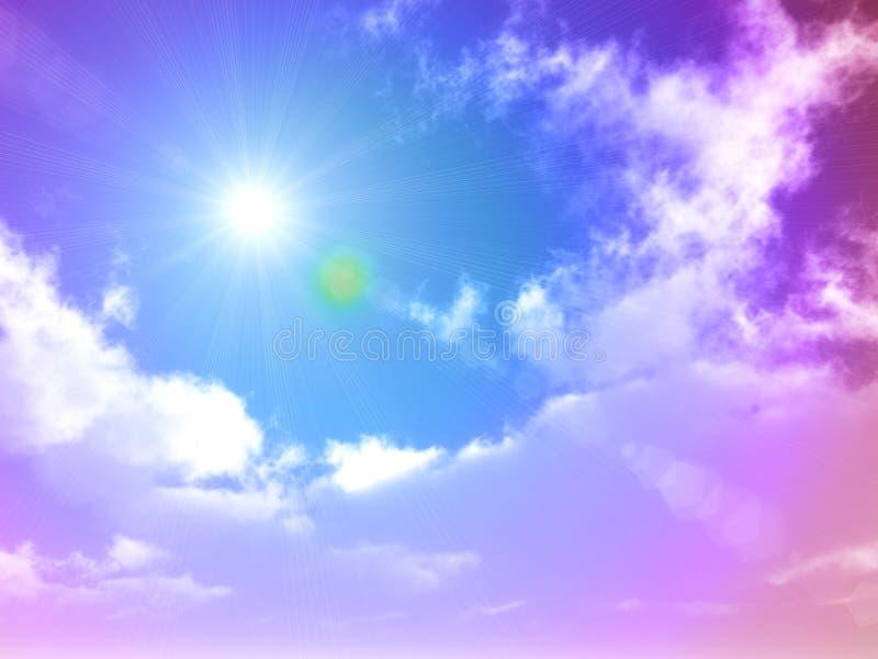 Cielo azul brillante el la estación de verano libre illustration