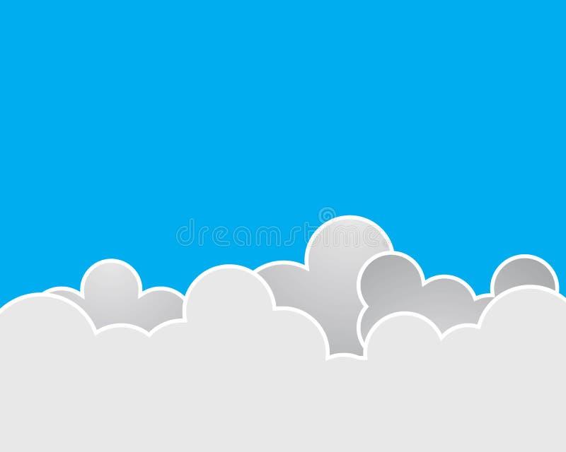 Cielo azul con el icono del vector de la nube libre illustration