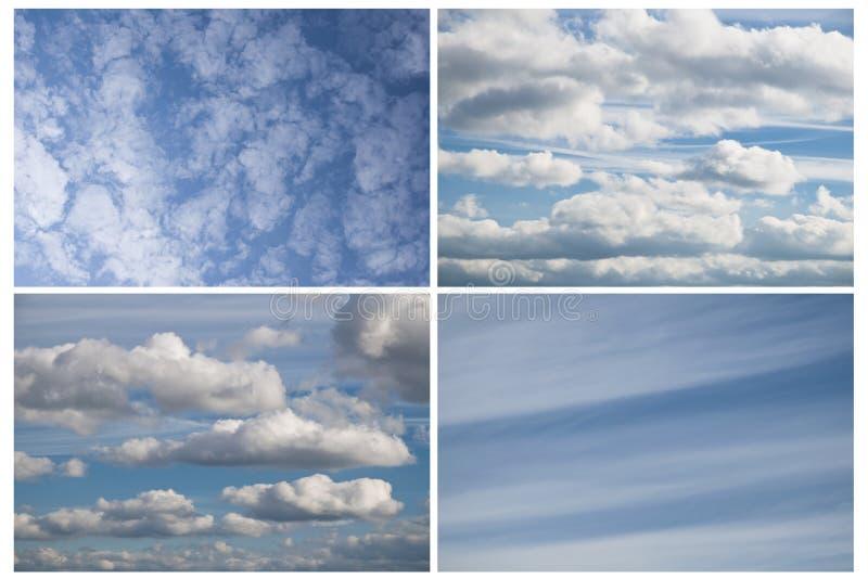 Cielo azul con las nubes 2 imágenes de archivo libres de regalías