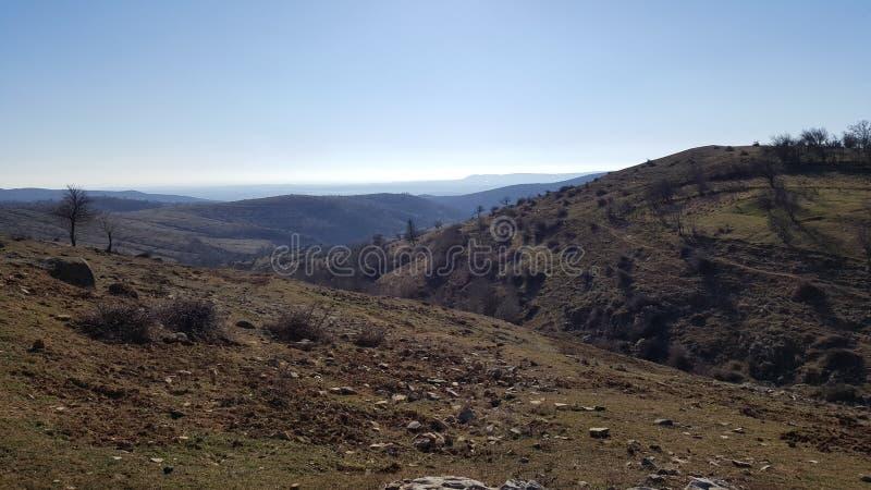 Cielo azul de Bulgaria foto de archivo libre de regalías