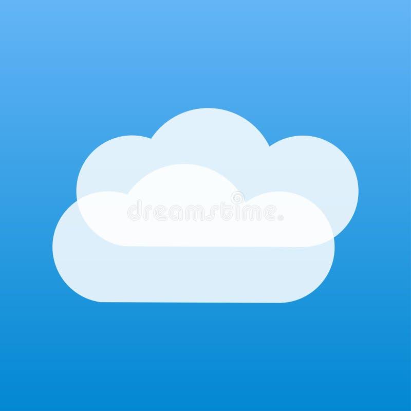 cielo azul de las nubes blancas nubladas del tiempo dos stock de ilustración