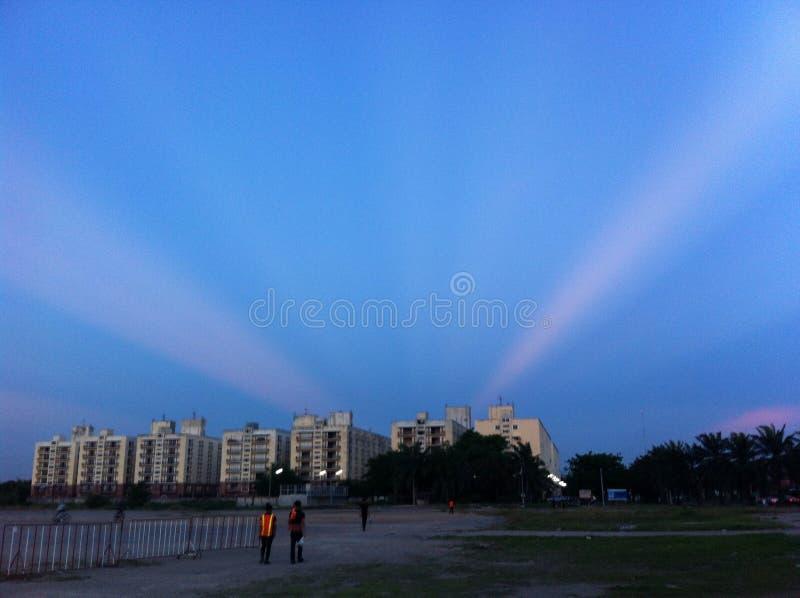 Cielo azul de Redius fotos de archivo