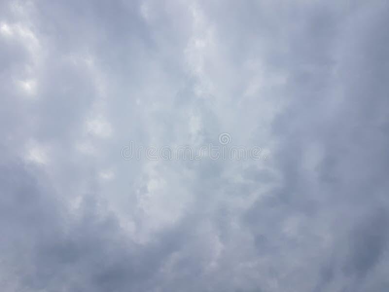 Cielo azul del cloudscape del verano con el fondo en blanco vacío natural de la atmósfera nublada de las nubes foto de archivo