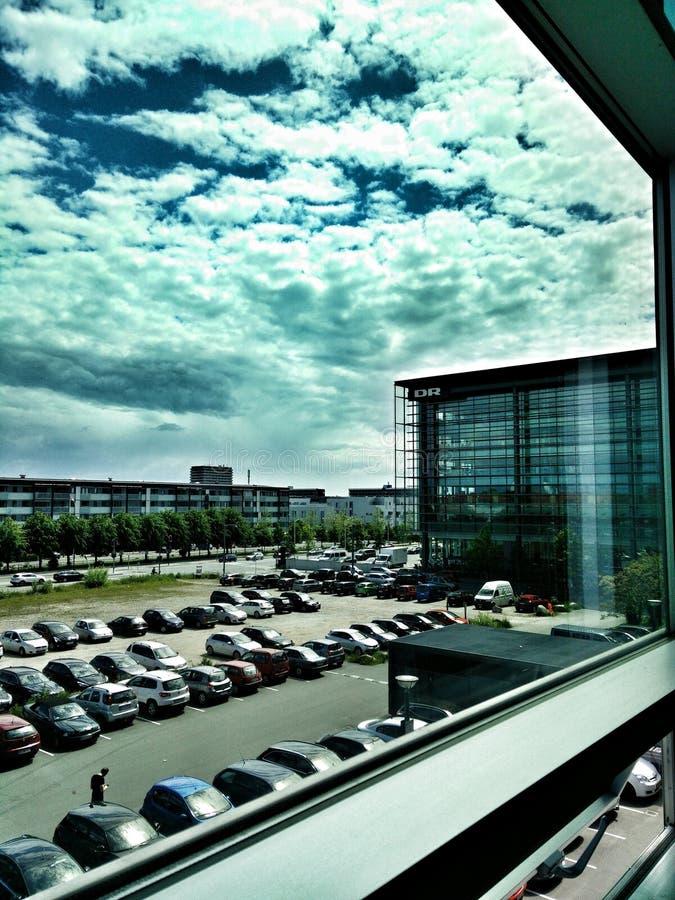 Cielo azul en Dinamarca fotos de archivo libres de regalías