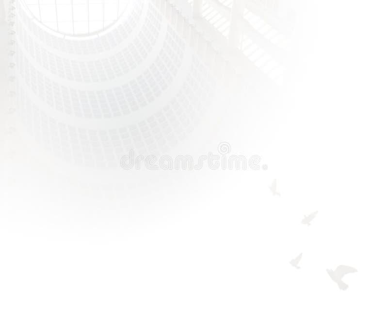Cielo bianco fotografie stock