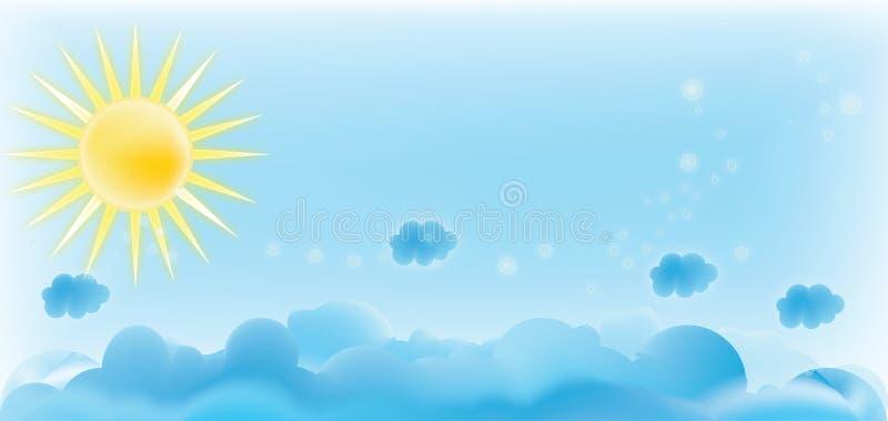 Cielo blu illustrazione vettoriale