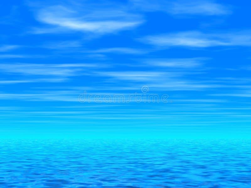 Cielo blu & mare illustrazione vettoriale