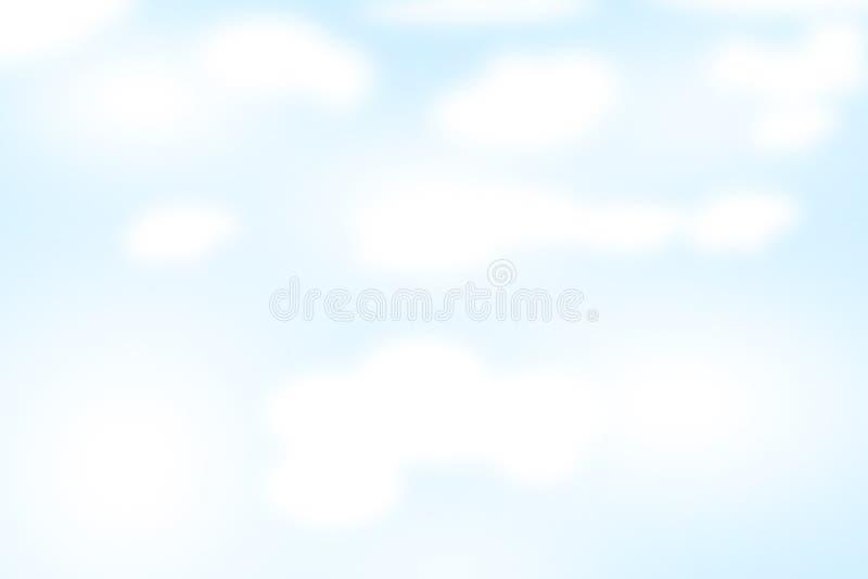 Cielo blu-chiaro con le nuvole illustrazione vettoriale