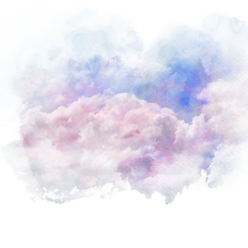Cielo blu con la nube bianca royalty illustrazione gratis