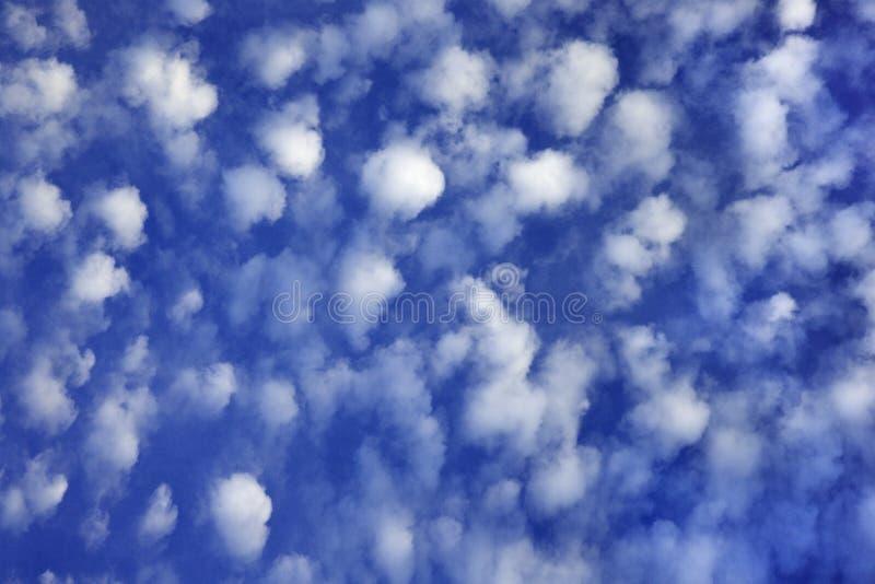 Cielo blu con le nubi. immagini stock
