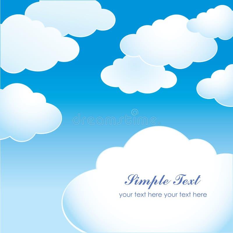 Cielo blu con le nuvole leggere illustrazione di stock