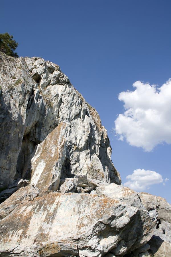 Cielo blu del und della roccia immagini stock libere da diritti