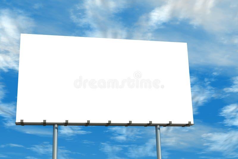 Cielo blu e nubi in bianco del tabellone per le affissioni illustrazione di stock