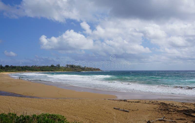 Cielo blu e spiaggia fotografia stock