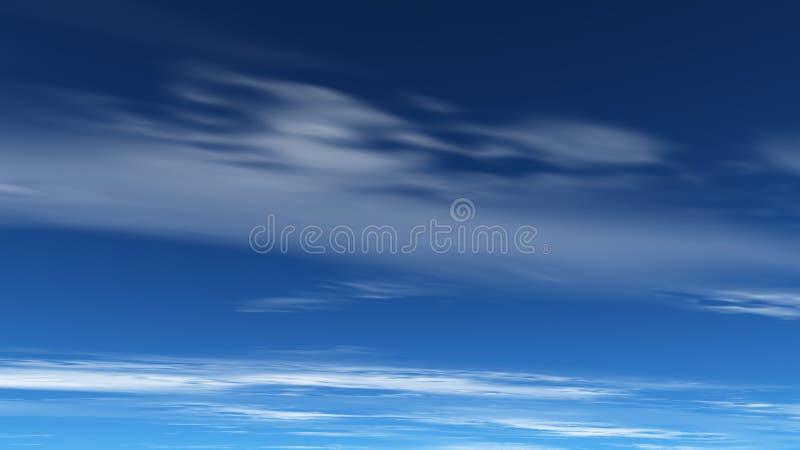 Cielo blu profondo illustrazione di stock