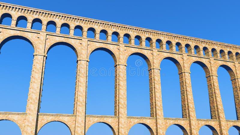 Cielo blu romano dell'aquedotto illustrazione vettoriale