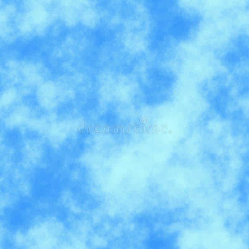 Cielo blu senza giunte di struttura delle mattonelle illustrazione di stock