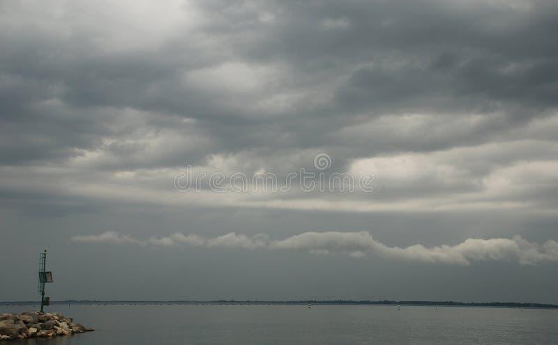 Cielo cambiante de Duino fotografía de archivo libre de regalías