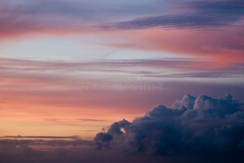 Cielo colorato immagini stock