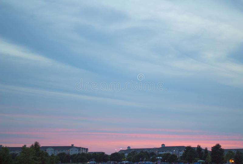 Cielo colorato pastello drammatico fotografia stock