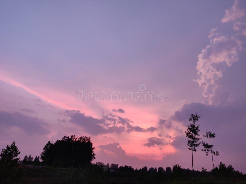 Cielo coloreado fotos de archivo