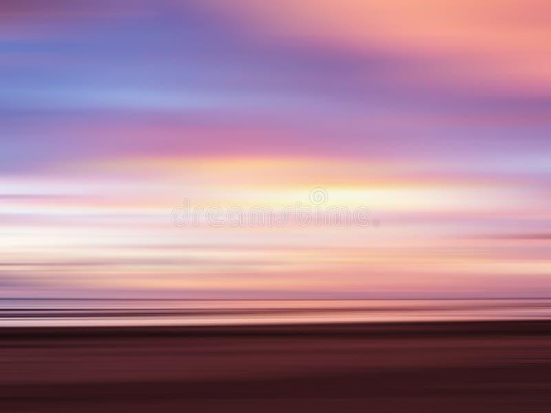 Cielo colorido abstracto de la puesta del sol fotografía de archivo libre de regalías