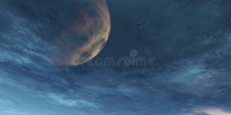 Cielo con el planeta fotografía de archivo