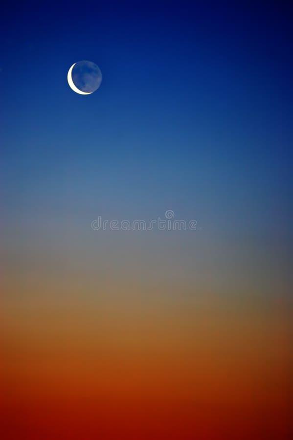 Cielo con la luna fotografie stock libere da diritti